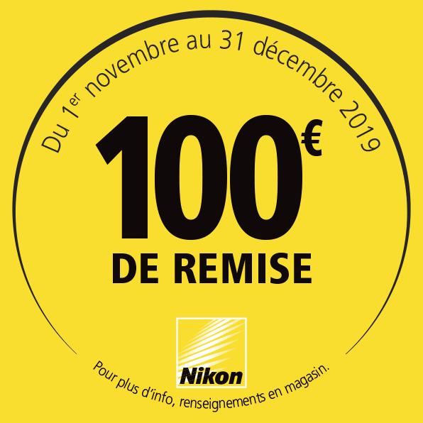 Offre Nikon Hiver 2019 - 100€