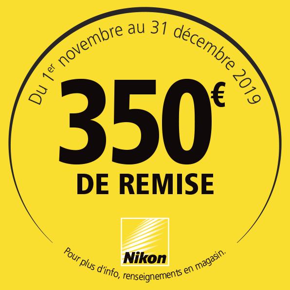 Offre Nikon Hiver 2019 - 350€