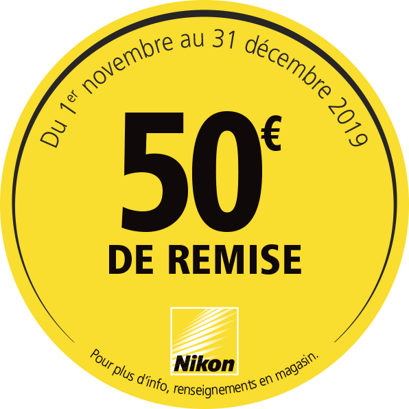 Offre Nikon Hiver 2019 - 50€